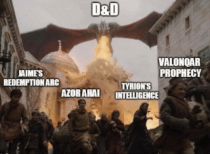 Fucking, Tumblr, and Blog: D&D  VALONOAR  PROPHECY  AIMES  REDEMPTIONARC  TYRION'S  AZOR AHAI INTELLIGENCE noisystrawberryanchor:  I've no fucking words.