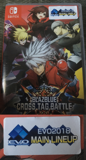 Disappointed, Memes, and Tumblr: d.  EVO2018  EO MAIN LINEUP  NINTENDCO  SWITCH  BLAZBLUE  CRISS TAG BATTLE   EVO2018  MAIN LINEUP voiceofthecity: capcomvssnk2: This is an extremely exploitable sticker and I will be sorely disappointed if no memes are made from this.  Gotta do everything myself, don't I?