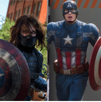 America, Memes, and Soldiers: d Joe and Anthony Russo described the Winter Soldier character in CAPTAIN AMERICA: THE WINTER SOLDIER as a negative image of Captain America. The design and look of both characters reflected that perfectly.  If you look closely, the mask that Winter Soldier wears is exactly opposite to the mask of Captain America. Winter Soldier's mask covers his lower face and reveals his eyes, where Cap's cover his eyes and reveals his lower face.  (Tim C.)