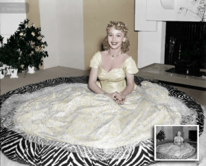 Singer, July, and  January: D McAndre Colourised Actress/singer Carole Landis January 1, 1919 - July 5, 1948