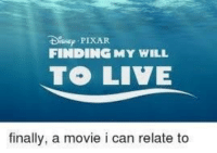 Pixar, Movie, and Can: D PIXAR  FINDINGMY WILL  finally, a movie i can relate to