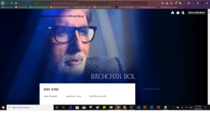 Need help finding HTML Code of Effector Theme v1.2.6 by Carlo Franco? It's Used by Mr. Amitabh Bachchan on Tumblr.: D Switch to tab:   http://srbachchan.tumblr.com  QSearch  C  arPage not found-Unta...  Most Visited  100 Outstanding Cont...  Free up drive space- ...  From Internet Explorer  Install Oracle 18c on U...  23 Photo Sharing sites  Introduction to Creativ...  100 HORROR  Stop notifications  Amitabh Bachchan's Official Blog  BACHCHAN BOL  About  DAY 4192  I am Amitabh Bachchan  Jalsa, Mumbai  Aug 28/29, 2019  Wed/Thu 2:03 AM  9:34 AM   Ai  Fm  Type here to search  O  x ENG  Ps  Xd  8/29/2019 Need help finding HTML Code of Effector Theme v1.2.6 by Carlo Franco? It's Used by Mr. Amitabh Bachchan on Tumblr.