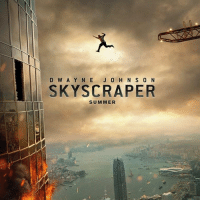 9gag, Memes, and The Rock: D W A Y N E J 0 H N S 0 N  SKYSCRAPER  SUMMER Science can't explain hows the Rock gonna survive in this fatal jump Follow @9gag - Cr: christianbedwel | TW - 9gag movieposter skyscraper physics dwaynejohnson therock parabola