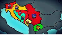 "Fall, Taken, and Croatia: D Yugoslav Countryball Wargame  Turn 2 Same map because nobody attacked anyone :P  There are some alternate events!  Year 1992 Yugoslavia is falling apart, nationalist governments have taken over communist governments. In this universe Republika Srpska gained independence and became Serbia's puppet state. Serbia and Croatia signed a non aggresion pact that will last until 1995!  Tensions in Bosnia are rising because of Croatian minority and Serbs in some regions! Serbia formed the ""Serbian Alliance"" to unite the Serbs!  Serbian Alliance: Serbia (Leader) Republika Srpska Montenegro  Top 3 countries by Economy: 1. Slovenia 2. Croatia 3. Serbia  Top 3 countries by military: 1. Serbia 2. Croatia 3. Federation of BiH  Serbia - Equi Montenegro - Radivoje Bošković Croatia - Georgie Dimeski Macedonia - Tamas Polgardi Republika Srpska - Mirko Krstic Slovenia - Bogdan Huey Kocanovic Federation of Bosnia and Herzegovina - Some greek name"