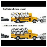 How about them back to school commercials? Haha! -Follow my backup @ifunnymemes for extra pics!-@ifunnymemes: Traffic jam before school  HOO  Traffic jam after school  CHOOL BUS How about them back to school commercials? Haha! -Follow my backup @ifunnymemes for extra pics!-@ifunnymemes