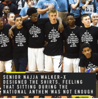 Sports, Kobe, and Amas: DA  AMA  AMA  IAMANMANGRANT  MUSLIM  AMA  AMA  AMA  MUSLIM  IAMA  AMA  IAMA  MUSLIM  MUSLIM  AN ACE  IMAM  IAMA  AAN  MAANAE2CAN  IAM  AM  AN ACE.  AN ACE  AMA  SENIOR NAJJ A WALKER X  DESIGNED THE SHIRTS, FEELING  THAT SITTING DURING THE  NATIONAL ANTHEM WAS NOT ENOUGH Kobe's alma mater is making a statement (h-t @PaPrepLive)