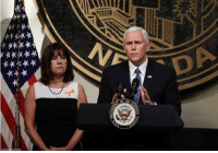 Memes, Las Vegas, and Las Vegas: DA  OF THE Earlier today, Vice President Mike Pence, accompanied by his wife, Karen, spoke in Las Vegas, following a unity prayer walk honoring the victims of last weekend's massacre.