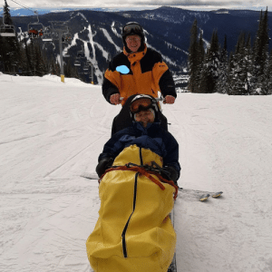 Dad (84) took my now nearly blind and disabled Mom skiing again. Back in the day they met on the slopes.: Dad (84) took my now nearly blind and disabled Mom skiing again. Back in the day they met on the slopes.