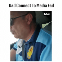 Dad, Fail, and Memes: Dad Connect To Media Fail  LAD  BIBLE 'That's the last time I press connect media with my dad's phone...' 🙈😂