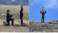 Dad, Funny, and Wedding: Dad crashes wedding proposal