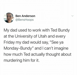 Dad joke with serial killer: Dad joke with serial killer