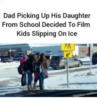 Lmao 😂 - FULL VIDEO AT PMWHIPHOP.COM LINK IN BIO: Dad Picking Up His Daughter  From School Decided To Film  Kids Slipping on Ice Lmao 😂 - FULL VIDEO AT PMWHIPHOP.COM LINK IN BIO