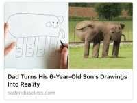 """<p><a class=""""tumblr_blog"""" href=""""http://plasmalogical.tumblr.com/post/152335451323"""" target=""""_blank"""">plasmalogical</a>:</p> <blockquote> <p>Heartwarming: Man Uses Godlike Powers To Create Grotesqueries For His Precious Son</p> </blockquote>: Dad Turns His 6-Year-Old Son's Drawings  Into Reality  sadanduseless.com <p><a class=""""tumblr_blog"""" href=""""http://plasmalogical.tumblr.com/post/152335451323"""" target=""""_blank"""">plasmalogical</a>:</p> <blockquote> <p>Heartwarming: Man Uses Godlike Powers To Create Grotesqueries For His Precious Son</p> </blockquote>"""