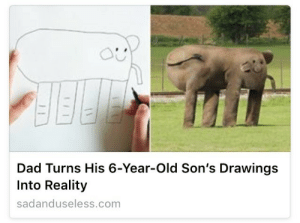 plasmalogical: Heartwarming: Man Uses Godlike Powers To Create Grotesqueries For His Precious Son : Dad Turns His 6-Year-Old Son's Drawings  Into Reality  sadanduseless.com plasmalogical: Heartwarming: Man Uses Godlike Powers To Create Grotesqueries For His Precious Son