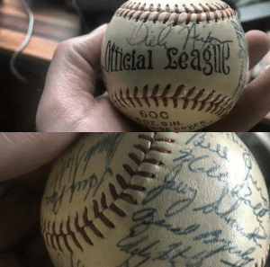 Dad was given Washington Senators opening day ball. Signed by Tricky Dick.: Dad was given Washington Senators opening day ball. Signed by Tricky Dick.