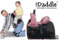 """Dad, Target, and Tumblr: Daddle  TM  Dad's Saddle for Horsina Around <p><a class=""""tumblr_blog"""" href=""""http://suethespiders.tumblr.com/post/58471156595"""" target=""""_blank"""">suethespiders</a>:</p><blockquote> <p>*rides off into the sunset on your dad*</p> </blockquote>"""
