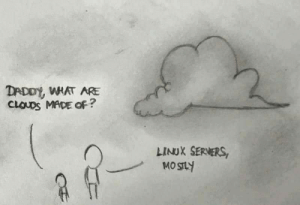 Linux, Clouds, and Own: DADDY WHAT ARE  CLOUDS MADE oF?  LINUX SERVERS Try it at your own risk!