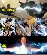Amazon, Life, and Memes: DADDYS  GIRL  WONDERMA LIKE FATHER, LIKE DAUGHTER In The Comics: As of the New 52 (2011) and continuing with Rebirth, Princess Diana is she daughter of Hippolyta, Queen of the Amazon nation and Zeus, the almighty King of the Olympian Gods. As a demi-goddess, Diana is able to channel her father's lightning abilities as well as her other divine gifts bestowed unto her as an immortal princess. * Wonder Woman's original origin (1941), being molded from mystical clay on the shores of her island paradise home of Themyscira by her mother Hippolyta and then brought to life by the Greek Goddesses, was a lie told to her to protect her from the vengeful wrath of Hera. She was raised to believe she was different, and she is unique. She is unlike any Amazon before her and the only child ever born on the island. * Wonder Woman is one of the strongest beings in the DC Universe. *** Cinematic Art by the amazing @houstonsharp @gal_gadot mywonderwoman girlpower women femaleempowerment MulherMaravilha MujerMaravilla galgadot unitetheleague princessdiana dianaprince amazons amazonwarrior manofsteel thedarkknight zeus greekgod goddess olympus ares godofwar historylesson happyfathersday
