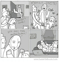 Daddy's Home, Memes, and 🤖: DADDY's  HOME  Tt's cozy time  moth a fucka FAMILY NNTTE!  DO  www.lunar baboon com Get cozy.... Www.lunarbaboon.com