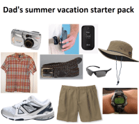 Dad's summer vacation starter pack  1:00 PM  L, Auy 7  CAMEDIM.  LG  FR 303  soa M Dad's summer vacation starter pack