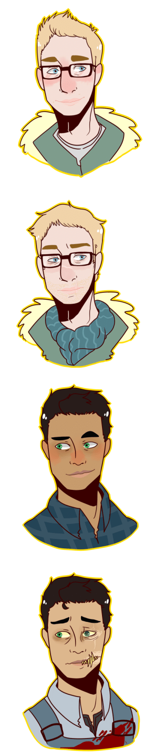 Tumblr, Blog, and Pictures: dadtron-3000:  Some before and after Wendigo Hunter Chris and Wendigo Josh   My most accurate Chris ever - he's so jaded for a 24 y/o (his age in the au)   This version of Wendi Hunter au is the brainchild of @captain-sofa Also the pictures I mentioned @all-of-the-ships-are-sailing