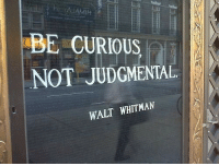 Walt Whitman, Curious, and Judgmental: daf  AMIH  BE CURIOUS  NOT JUDGMENTAL  WALT WHITMAN