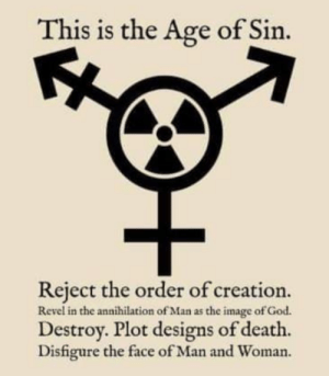 daggers-drawn:  daggers-drawn: audacityinblack:  daggers-drawn:  audacityinblack:  daggers-drawn: Yes this is Catholic anti-trans propaganda, but it's also the lyrics to my new hardcore punk song. And that's the new symbol for gender nihilism.   I think we should use the biohazard symbol instead of the radiation hazard one: It's cooler and more fitting.  Good point.   There we go! ^^  : daggers-drawn:  daggers-drawn: audacityinblack:  daggers-drawn:  audacityinblack:  daggers-drawn: Yes this is Catholic anti-trans propaganda, but it's also the lyrics to my new hardcore punk song. And that's the new symbol for gender nihilism.   I think we should use the biohazard symbol instead of the radiation hazard one: It's cooler and more fitting.  Good point.   There we go! ^^