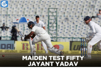 Brilliant fifty from Jayant Yadav. India lead by 123 runs.: DAI  MAIDEN TEST FIFTY  JAYANT YADAV Brilliant fifty from Jayant Yadav. India lead by 123 runs.