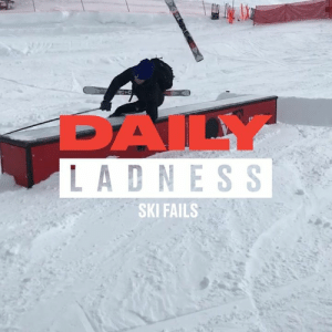 Skiing just is not for everyone 😂😂: DAILY  LADNESS  SKI FAILS Skiing just is not for everyone 😂😂