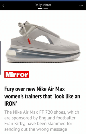 a895d65e50 England, Funny, and Nike: Daily Mirror Mirror Fury over new Nike Air Max