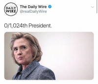 Memes, 🤖, and Wire: DAILY The Daily Wire  WIRE) @realDailyWire  0/1,024th President. (GC)