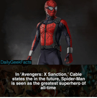 If you could combine one Avenger with one X-Man, what would the outcome be? _ spiderman peterparker cable cyclops wolverine beast jeangrey deadpool domino gambit avengers xmen marvel marvelcomics marvelfacts dailygeekfacts: DailyGeekFacts  In 'Avengers: X Sanction, Cable  states the in the future, Spider-Man  is seen as the greatest superhero of  all-time If you could combine one Avenger with one X-Man, what would the outcome be? _ spiderman peterparker cable cyclops wolverine beast jeangrey deadpool domino gambit avengers xmen marvel marvelcomics marvelfacts dailygeekfacts
