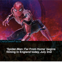 Are you excited for the sequel? If I'm being honest, I'm really not. Don't get me wrong, I love Spider-Man but so far 'Far From Home' just doesn't seem like an actual Spider-Man film. _ spiderman peterparker theamazingspiderman spidermanhomecoming spidermanfarfromhome spiderman2 tomholland vulture mysterio marvel marvelcomics marvelfacts dailygeekfacts: DailyGeekFacts  'Spider-Man: Far From Home' begins  filming in England today, July 2nd Are you excited for the sequel? If I'm being honest, I'm really not. Don't get me wrong, I love Spider-Man but so far 'Far From Home' just doesn't seem like an actual Spider-Man film. _ spiderman peterparker theamazingspiderman spidermanhomecoming spidermanfarfromhome spiderman2 tomholland vulture mysterio marvel marvelcomics marvelfacts dailygeekfacts