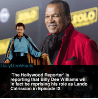 I think it'd be awesome to see Lando return. Will J.J Abrams do the character justice though? 👀 _ landocalrissian lando childishlandino billydeewilliams childishgambino donaldglover lukeskywalker obiwankenobi darthvader hansolo princessleia starwars starwarsfacts dailygeekfacts: DailyGeekFacts  'The Hollywood Reporter' is  reporting that Billy Dee Williams wil  in fact be reprising his role as Lando  Calrissian in Episode lX. I think it'd be awesome to see Lando return. Will J.J Abrams do the character justice though? 👀 _ landocalrissian lando childishlandino billydeewilliams childishgambino donaldglover lukeskywalker obiwankenobi darthvader hansolo princessleia starwars starwarsfacts dailygeekfacts