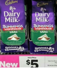 Memes, Smooth, and 🤖: Dairy Dairy  MilkMilk  UNNINGSUNNINGS  SNAG  SNAG  Smooth  &Crea  smooth  Intro Price  New  190  52.63 per 100s
