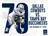 Our Dallas Cowboys look to get back to their winning ways with Sunday Night Football!  #TBvsDAL #CowboysNation #GameDay http://bit.ly/2hFT6yd: DALLAS  COWBOYS  TAMPA BAY  BUCCANEERS  SUN DECEMBER 18 7:25PM  PRO SHOP Our Dallas Cowboys look to get back to their winning ways with Sunday Night Football!  #TBvsDAL #CowboysNation #GameDay http://bit.ly/2hFT6yd