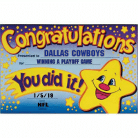 👏👏👏👏👏👏 https://t.co/bvPgU3VkoL: DALLAS COWBOYS  WINNING A PLAYOFF GAME  Presented to  for  did it!  1/5/19  Date  NFL 👏👏👏👏👏👏 https://t.co/bvPgU3VkoL