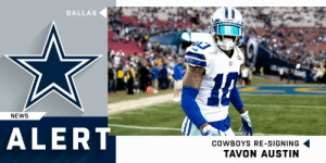 Dallas Cowboys, Memes, and News: DALLAS  NEWS  ALERT  COWBOYS RE-SIGNING  TAVON AUSTIN Cowboys re-signing WR Tavon Austin. (via @RapSheet) https://t.co/eh29GzTZ8C