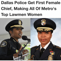 """Renee Hall will be the first female chief of the Dallas Police Department. Hall will follow former Dallas Police Chief David Brown, who retired in October after leading the department through the aftermath of the July 2016 ambush that left five officers dead. Her appointment means she joins Sheriff Lupe Valdez and District Attorney Faith Johnson, both women, as the top three law enforcement jobs in Dallas County. Hall will leave her post as Deputy Chief of the Detroit Police Department, where she directed the city's Neighborhood Policing Bureau. """"I am honored to be chosen to lead the Dallas Police Department at this critical time in its history,"""" Hall said. """"I look forward to building on the successes of the past, preserving community trust and ensuring the safety of our officers and the entire Dallas community."""": Dallas Police Get First Female  Chief, Making All Of Metro's  Top Lawmen Women Renee Hall will be the first female chief of the Dallas Police Department. Hall will follow former Dallas Police Chief David Brown, who retired in October after leading the department through the aftermath of the July 2016 ambush that left five officers dead. Her appointment means she joins Sheriff Lupe Valdez and District Attorney Faith Johnson, both women, as the top three law enforcement jobs in Dallas County. Hall will leave her post as Deputy Chief of the Detroit Police Department, where she directed the city's Neighborhood Policing Bureau. """"I am honored to be chosen to lead the Dallas Police Department at this critical time in its history,"""" Hall said. """"I look forward to building on the successes of the past, preserving community trust and ensuring the safety of our officers and the entire Dallas community."""""""