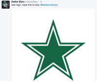 Dallas Stars  @Dallas Stars 1h  new logo. hope this is cool  @dallas cowboy LOL everybody is roasting the Chargers' new logo