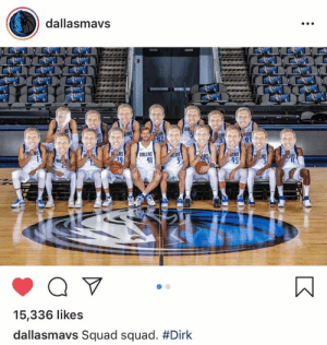 Squad love for Dirk ❤️  (via Dallas Mavericks): dallasmavs  ORL  41  alAs  45  15,336 likes  dallasmavs Squad squad. Squad love for Dirk ❤️  (via Dallas Mavericks)