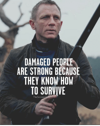 Memes, How To, and Tag Someone: DAMAGED PEOPLE  ARE STRONG BECAUSE  THEY KNOW HOW  TO SURVIVE  The Success Stay Strong 💪 TheSuccessClub Tag someone 👇