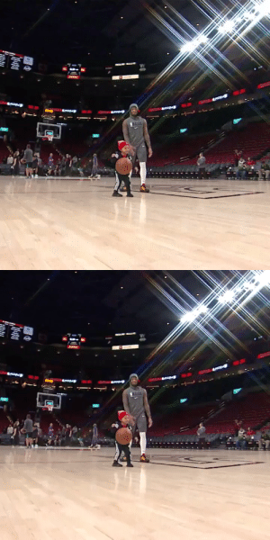 Dame warms up with his son pre-game💪 https://t.co/O8LluRl5oA: Dame warms up with his son pre-game💪 https://t.co/O8LluRl5oA