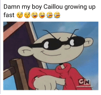 """Caillou, Growing Up, and Memes: Damn my boy Caillou growing up  GN <p>Codename K.I.D.S. Next Door memes the new thing? via /r/MemeEconomy <a href=""""http://ift.tt/2qiuXSd"""">http://ift.tt/2qiuXSd</a></p>"""