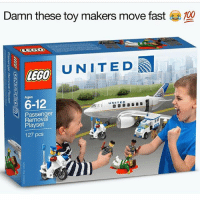 Look close or you might miss it (@adam.the.creator this is unreal): Damn these toy makers move fast  100  UNITED  LEGO  6-12  UNITED  Passenger  Playset  127 pcs Look close or you might miss it (@adam.the.creator this is unreal)