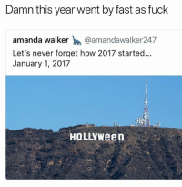 This year going fast or slow for ya'll 🙄 • Follow @savagememesss for more posts daily: Damn this year went by fast as fuck  amanda walker @amandawalker247  Let's never forget how 2017 started...  January 1, 2017  HOLLYWeep This year going fast or slow for ya'll 🙄 • Follow @savagememesss for more posts daily