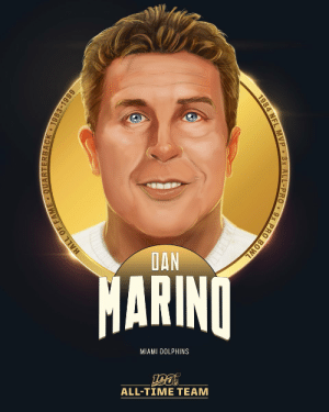 Dan Marino is one of 10 QBs selected to the #NFL100 All-Time Team!  🐬 1984 NFL MVP 🐬 3x First-Team All-Pro 🐬 5th all-time pass yards and TDs 🐬 First player with 5,000+ pass yards in a single season (1984) https://t.co/6TUPXIhszm: DAN  MARINO  MIAMI DOLPHINS  ALL-TIME TEAM  HALL OF  JACK 1983-1999  1984 NFL MVP 3x ALL-PRO 9x PRO BOWL Dan Marino is one of 10 QBs selected to the #NFL100 All-Time Team!  🐬 1984 NFL MVP 🐬 3x First-Team All-Pro 🐬 5th all-time pass yards and TDs 🐬 First player with 5,000+ pass yards in a single season (1984) https://t.co/6TUPXIhszm
