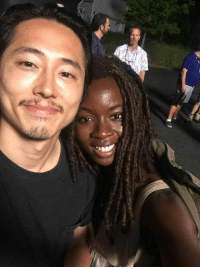 Danai Gurira to Steven Yeun ~Isis J.  So I've been in denial. The thought, the notion of losing Glen as a character in the show and Steven Yeun as a colleague is something I am yet to fully wrap my mind around. Steven was to me, from the very start, that deeply specific indicator that I was in the right place as I entered the TWD realm. The minute I was cast, he was in touch, inviting me to a lunch he and Lauren organized and trying to come watch my play The Convert which was then in production. Once I made it to GA, he helped me figure out where to stay, even letting me crash in his place over a weekend as I scouted out this new terrain called Atlanta. His kindness, his passion, his purity of heart, his genuine goodness and his amazing sense of humor makes him one of the best people I know. His dedication to our show, to this family, his deep concern with all things concerning the story we strive to tell, his utter commitment, his outrage, provokes me to be better, to dig deeper. The heart he brought to every frame he occupied inspired us all to never be complacent. One of my favorite things in life is to make Steven laugh. He has one of those laughs that revives the dead, that fills you with inexplicable joy. His ability to make me laugh, that deep belly laugh that makes life a little lighter, is something I am pained to accept I won't have daily access to. Over the years I have grown to learn how similar Steven and I are, from our migrant families, to our college majors to our faith. He's my brother. I've been in denial, and remain so.   I am so excited, however, to watch his journey continue to unfold, he is designed to break barriers, to fill the world with stories that must and have yet to be told.   He is built to transcend and will forever be my friend. And that makes me thankful to know him and to start to accept that painful truth, that our work relationship has sadly, at this time, come to an end.: Danai Gurira to Steven Yeun ~Isis J.  So I've been in denial. The thought, the notion of losing Glen as a character in the show and Steven Yeun as a colleague is something I am yet to fully wrap my mind around. Steven was to me, from the very start, that deeply specific indicator that I was in the right place as I entered the TWD realm. The minute I was cast, he was in touch, inviting me to a lunch he and Lauren organized and trying to come watch my play The Convert which was then in production. Once I made it to GA, he helped me figure out where to stay, even letting me crash in his place over a weekend as I scouted out this new terrain called Atlanta. His kindness, his passion, his purity of heart, his genuine goodness and his amazing sense of humor makes him one of the best people I know. His dedication to our show, to this family, his deep concern with all things concerning the story we strive to tell, his utter commitment, his outrage, provokes me to be better, to dig deeper. The heart he brought to every frame he occupied inspired us all to never be complacent. One of my favorite things in life is to make Steven laugh. He has one of those laughs that revives the dead, that fills you with inexplicable joy. His ability to make me laugh, that deep belly laugh that makes life a little lighter, is something I am pained to accept I won't have daily access to. Over the years I have grown to learn how similar Steven and I are, from our migrant families, to our college majors to our faith. He's my brother. I've been in denial, and remain so.   I am so excited, however, to watch his journey continue to unfold, he is designed to break barriers, to fill the world with stories that must and have yet to be told.   He is built to transcend and will forever be my friend. And that makes me thankful to know him and to start to accept that painful truth, that our work relationship has sadly, at this time, come to an end.