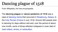 rolanslide: the-transfeminine-mystique: throwback to my ladies 500 years ago who knew how to fuckin party : Dancing plague of 1518  From Wikipedia, the free encyclopedia  The dancing plague (or dance epidemic) of 1518 was a  case of dancing mania that occurred in Strasbourg, Alsace, in  the Holy Roman Empire in July 1518. Around 400 people took  to dancing for days without rest and, over the period of about  one month, some of those affected collapsed or even died of  heart attack, stroke, or exhaustion. rolanslide: the-transfeminine-mystique: throwback to my ladies 500 years ago who knew how to fuckin party