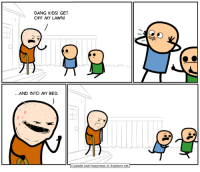 Dank, Goals, and The Game: DANG KIDS! GET  OFF MY LAWN!  .AND INTO MY BED.  Cyanide and Happiness © Explosm.net 5 days left of our video game Kickstarter! Everything you could ever want to know about it lives right here: https://goo.gl/2Gbses  BACK OUR KICKSTARTER! GET THE GAME CHEAPER! UNLOCK RAD STRETCH GOALS! <3 HELP US HELP YOU! <3